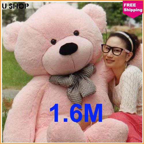 160cm pink life size doll plush large teddy bear for sale giant big soft toys teddy bears. Black Bedroom Furniture Sets. Home Design Ideas