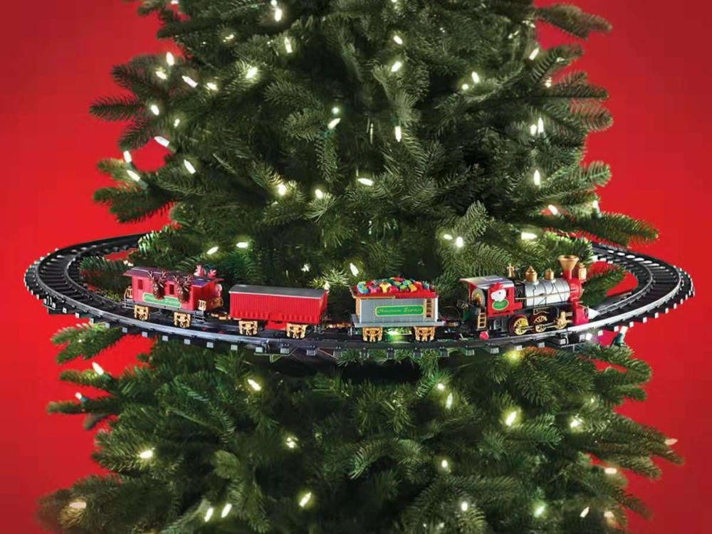 Nicolai De Noël eletric train Creative cadeau Électrique Train Hot Set De Noël Jouets Pour enfants De Noël Dree Décoration