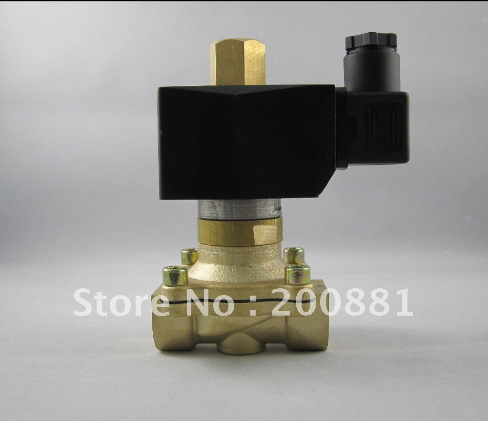 1 2w series 2/2 way normally open  water oil steam AC220V DC24V DC12V brass  Solenoid Valve dc 12v normally open n o 2 way pilot solenoid valve15mm water steam oil solenoid electric valve