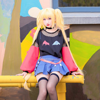 Tsukiyomi Utau Shugo Chara Anime Cosplay Tsukiyomi Utau Wine Chocolate Fashion Daily Suit Halloween Cosplay Costume Top Skirt