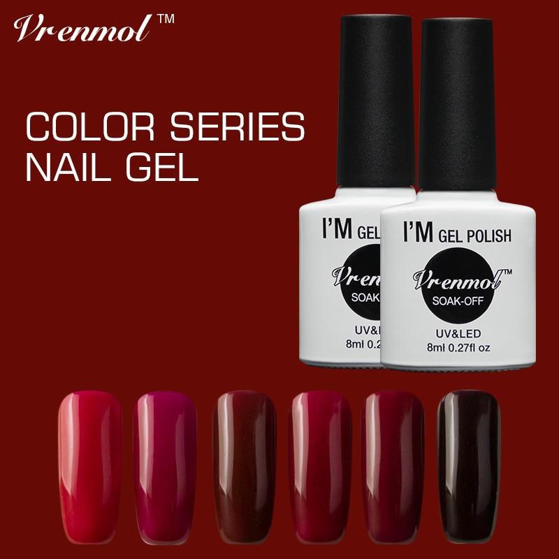 Vampire Nail Polish: Vrenmol Dark Red Vampire Blood Color Series UV Nail Gel