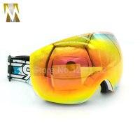 New UV400 Motocross Goggles Glasses Motorcycle Goggles Skiing MX Double Lenses Gafas Anti Fog For Skiing Motocross Skating