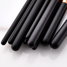 Hot sale 10 Pcs Black Handle Gold Tube Fan Brush Flame Concealer Makeup