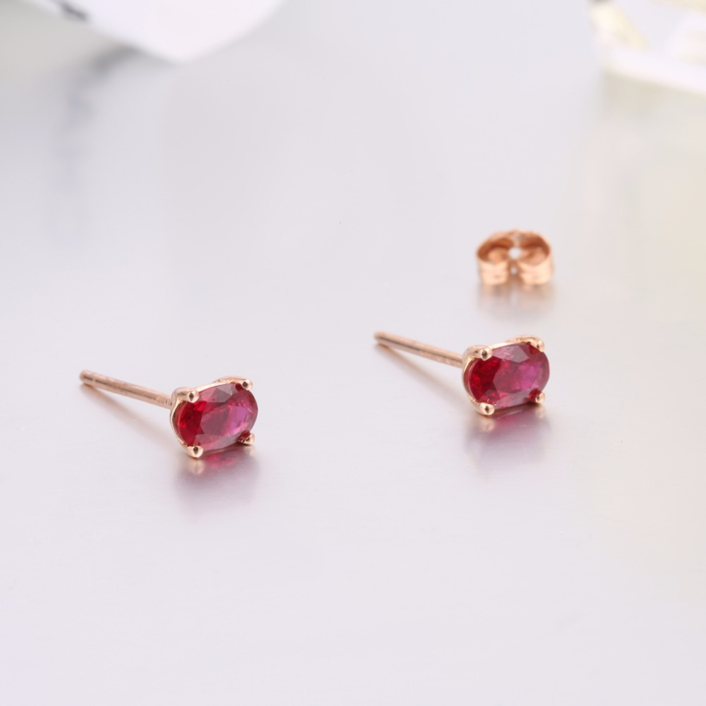 red item robira from trendy for rose fine women wedding jewelry burma with earring wholesale gold earrings stud natural in ruby