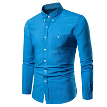 New Autumn Fashion Brand Men Clothes Slim Fit Long Sleeve Shirt Corduroy Casual Social Plus Size M-5XL