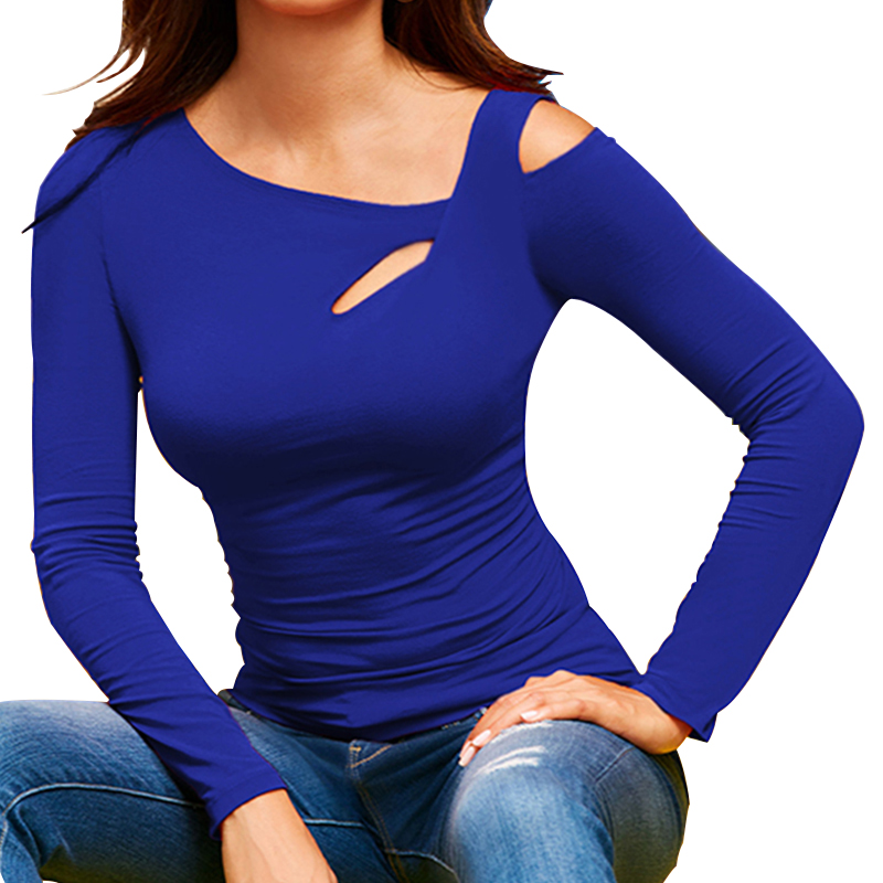 Skew Collor Blouse Women Shirt Long Sleeve Elegant Fashion Woman Blouses 2020 Slim Solid Womens Tops and Blouses Ladies Tops