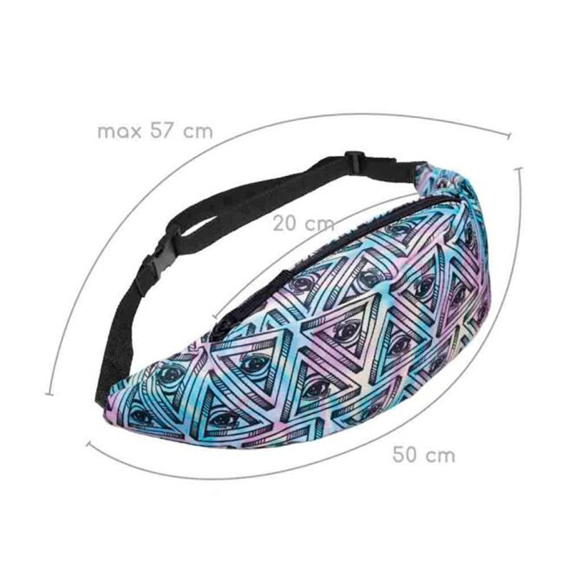 MOLAVE Waist Packs Fashion Sports Hiking Running Belt eye Prints Waist Bag Pouch Zip Fanny Pack waist packs small AP16