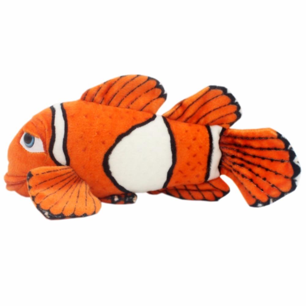 JESONN Realistic Stuffed Clown Fish Djur Plush Clowfish Leksaker för Barns Födelsedagspresenter, 40 CM