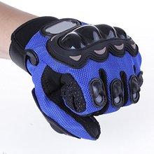 1 Pair Motorcycle Gloves Racing Gloves Fiber PU Blue – XL