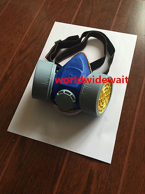 Industrial Dual Cartridges Filter Respirator Gas Chemical Paint Dust Proof Mask new industrial dust gas mask respirator chemical gas filter half face mask for painting organic vapours work safety