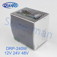 DIANQI 12V Din rail Single output Switching power supply 240w 48V suply 24v ac dc converter dr 240 DRP 240