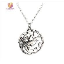Fire Dragon Pendant Necklace