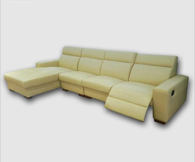Living Room Sofa set L corner sofa recliner electrical couch genuine ...