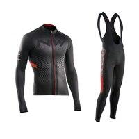 2017 Pro NW Team Cycling Jersey Quick Dry Long Sleeve Jerseys And Cycling Bib Pants Set