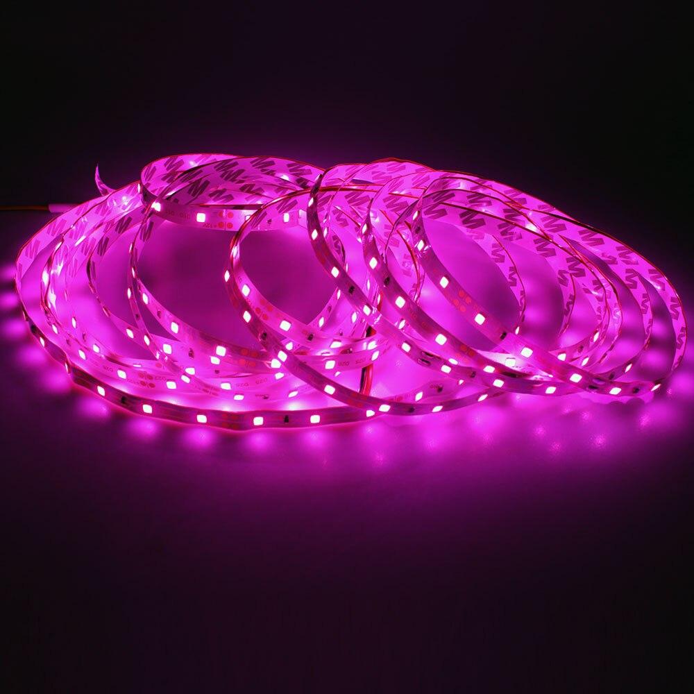 LEEDSUN 5M 300Leds Not waterproof Pink Led Strip Light 3528 DC12V 60Leds/M Fiexble Led Ribbon Tape Home Decoration Lamp