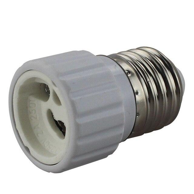 10XE27 Turn GU10 LED Light e27 to gu10 Lamps Holder Lamp Converters White lights PC FlameLighting Retardant Shell lighting Lamp