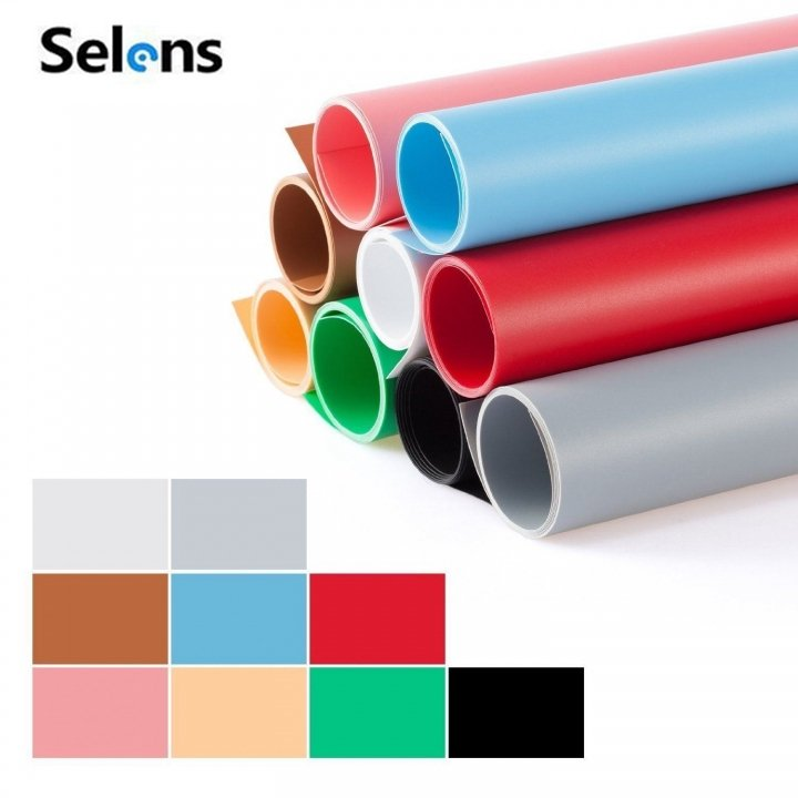 47X80inch 120*200 CM 9-in-1 Photography Backdrop Matte 9 Color PVC Background Kit