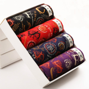 Image 1 - 4pcs Mens Underwear Boxers Shorts Casual Modal Ice Silk Breathable Male Printed Underwear Soft Fashion Youth Plus Size 4XL 5XL