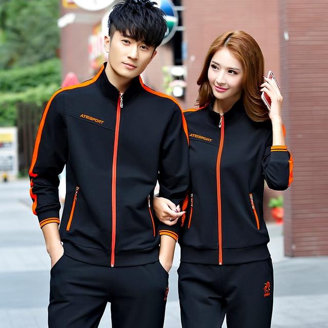 Cotton Sport Suit Pants Jackets Women Mens Sports Suits  2