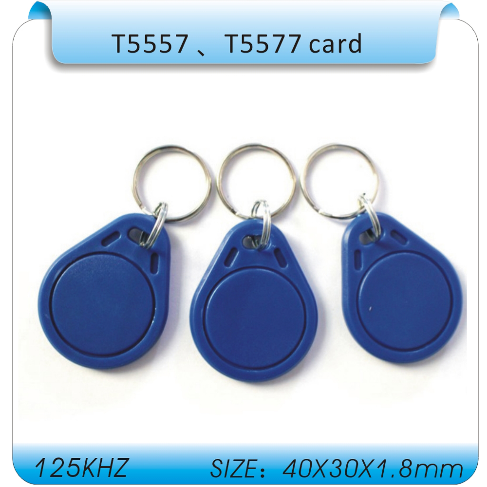 10 pz/lotto Rfid Tag 125 Khz Copia Keychain, riscrivibili T5557/EM4305 Rfid Copy Key fob, supporto 125 K H-ID format10 pz/lotto Rfid Tag 125 Khz Copia Keychain, riscrivibili T5557/EM4305 Rfid Copy Key fob, supporto 125 K H-ID format