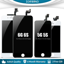 AAAA LCD For iPhone 5 5S 6 6S LCD Screen Display for iphone 5 6 S 5S 6S Lcd Digitizer Touch Screen Replacement Assembly brand new 5 5 display parts for apple iphone 6s plus lcd screen replacement with tool kits lcd touch screen digitizer assembly