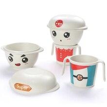 kid Bamboo fiber tableware bamboo baby christmas bowl set eco-friendly 3pcs unbreakable dinnerware sets