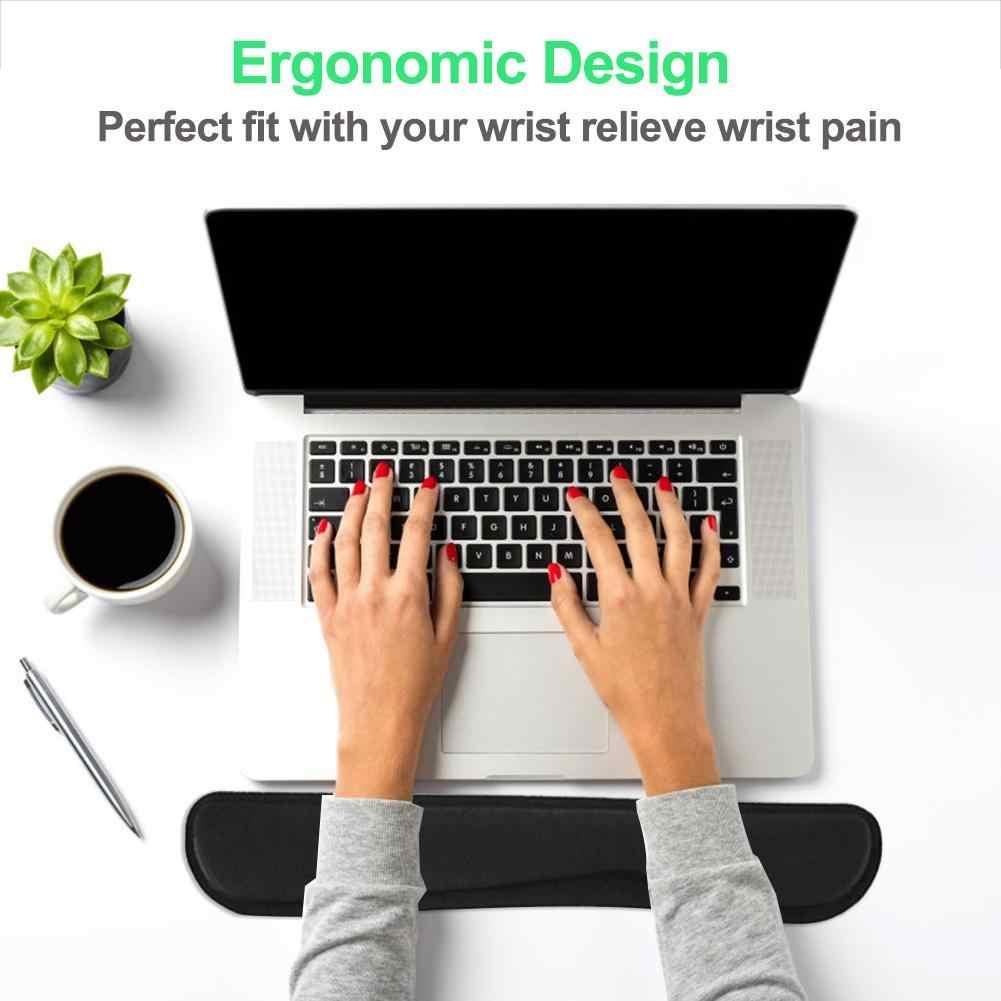 Memori Kapas Keyboard Pergelangan Tangan Sisanya Pad Mouse Mat Pergelangan Tangan Sisanya Pereda Nyeri untuk Game Kantor Laptop