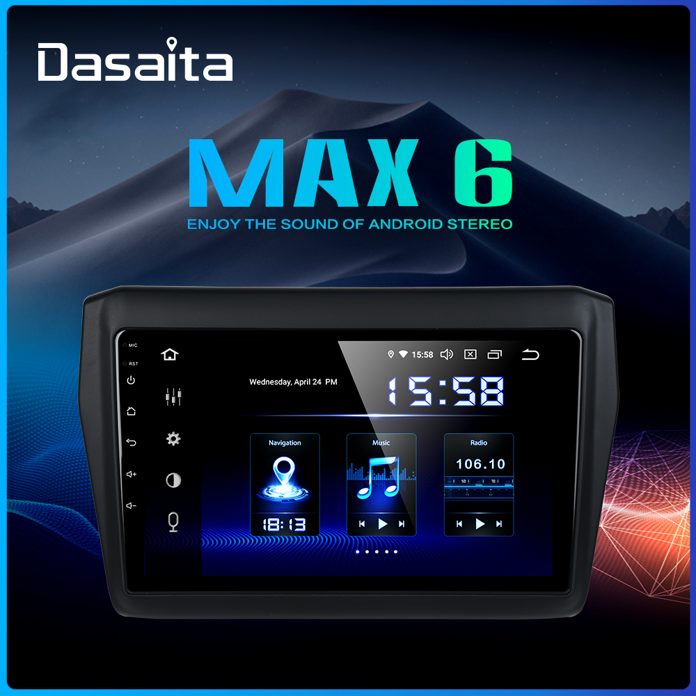 Dasaita 9 IPS Radio 1 Din Car Stereo Android 9 0 for Suzuki Swift GPS 2018