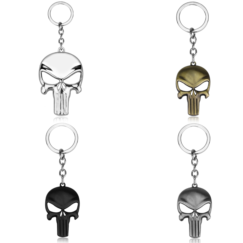 Halloween Skull Mask Keychain Metal Key Rings Movie Accessories Car Key Holder llaveros chaveiro(China)