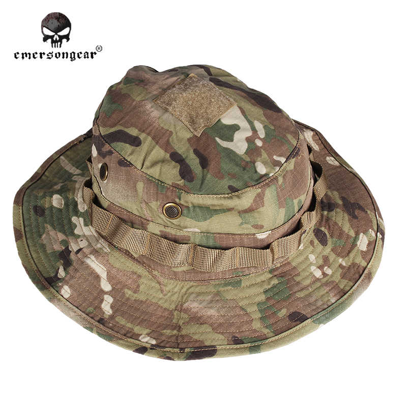 24f8733519d Hunting Camouflage Boonie Hat Emersongear Military Tactical Army  Anti-scrape Grid Fabric Multicam Woodland A