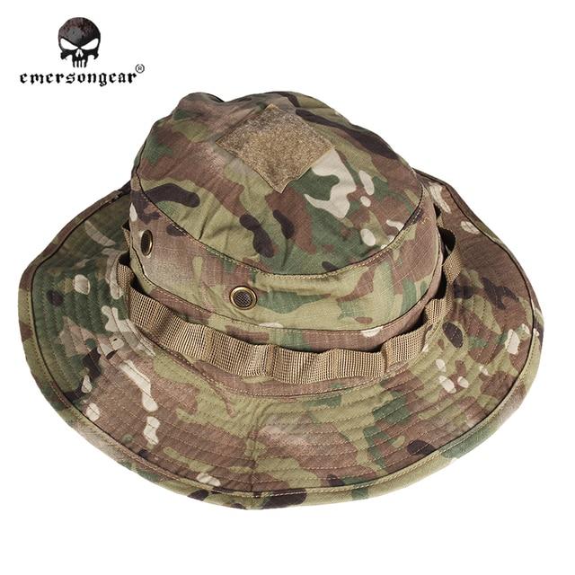 Hunting Camouflage Boonie Hat Emersongear Military Tactical Army  Anti-scrape Grid Fabric Multicam Woodland A 0da87740dba4