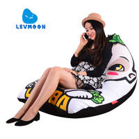 LEVMOON Beanbag Sofa Chair Hu Ba Seat Zac Shell Comfort Bean Bag Bed Cover Without Filler