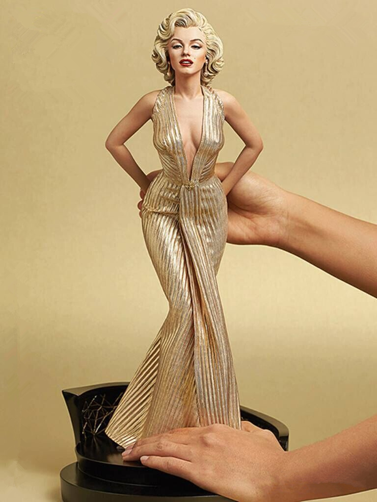 [Limited] 42cm Blondes Marilyn Monroe Statue pvc <font><b>Sexy</b></font> Lady star <font><b>Figure</b></font> PVC <font><b>1/4</b></font> <font><b>Scale</b></font> Collectible Model Toy gift image