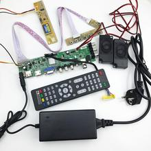 DS ¡D3663LUA! a81 DVB-T2/T/C TV digital universal LCD Placa de controlador de 15-32 pulgadas kit completo para 30pin 1ch… 6-bit 1 piezas pantalla de la lámpara 366311