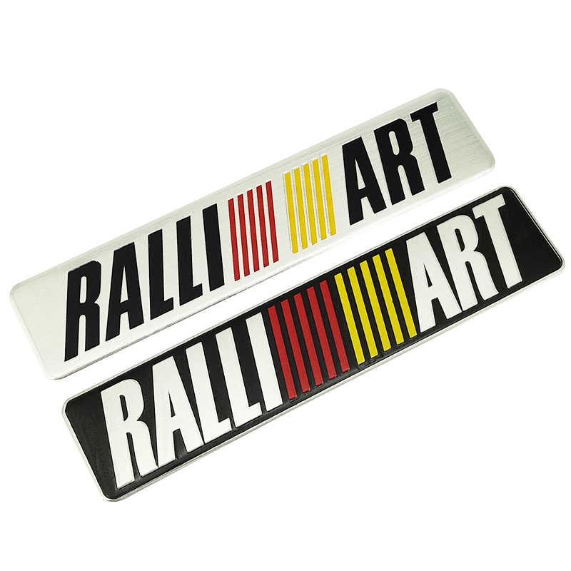 سيارة من سبيكة الألومنيوم ملصق شعار شارة ملصق مائي لميتسوبيشي ralliart لانسر 9 10 Asx أوتلاندر 3 باجيرو الرياضة L200 سيارة التصميم