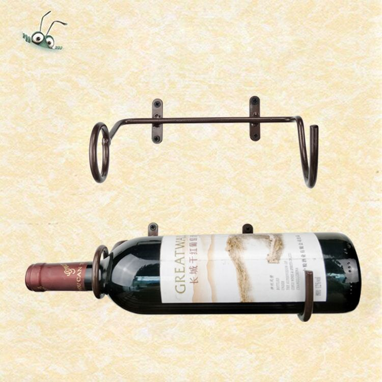 Us 29 0 Simple Metal Single Wall Mounted Bottle Wine Holder Display Rack Size 20x15x6cm In Racks From Home Garden On Aliexpress