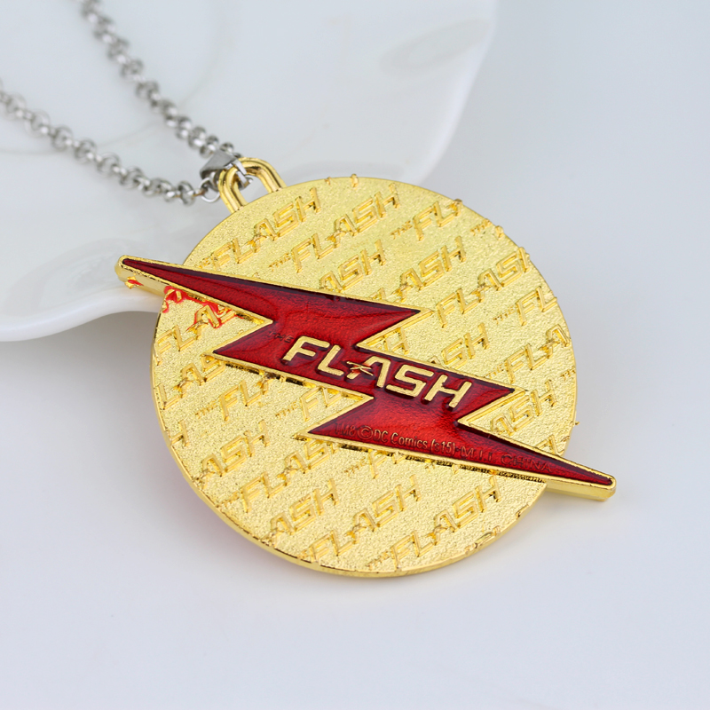 Fashion America DC Comics Flash Goldon Lightning Moment Collier Red - Mode smykker - Foto 4