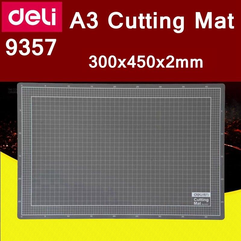 deli 9357 a3 tapete de corte de papel pvc auto cura corte mat placa