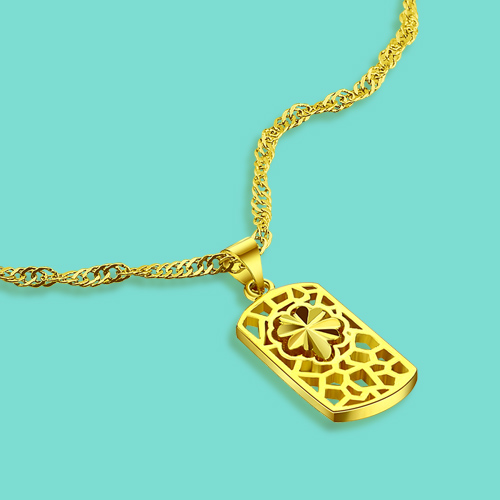New Fashion Girls Gold Jewelry 24k Gold Clavicle Necklace Flower