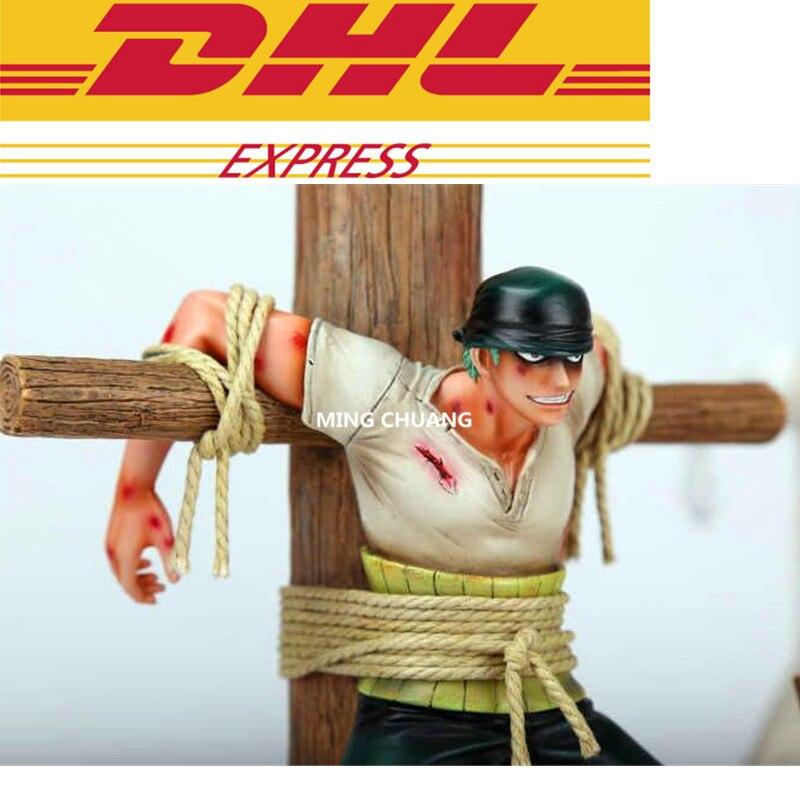 UN PEZZO Statua Pirati cappello di paglia GK Supernova Pirate Hunter Roronoa Zoro Busto GK Action Figure Da Collezione Model Toy w125