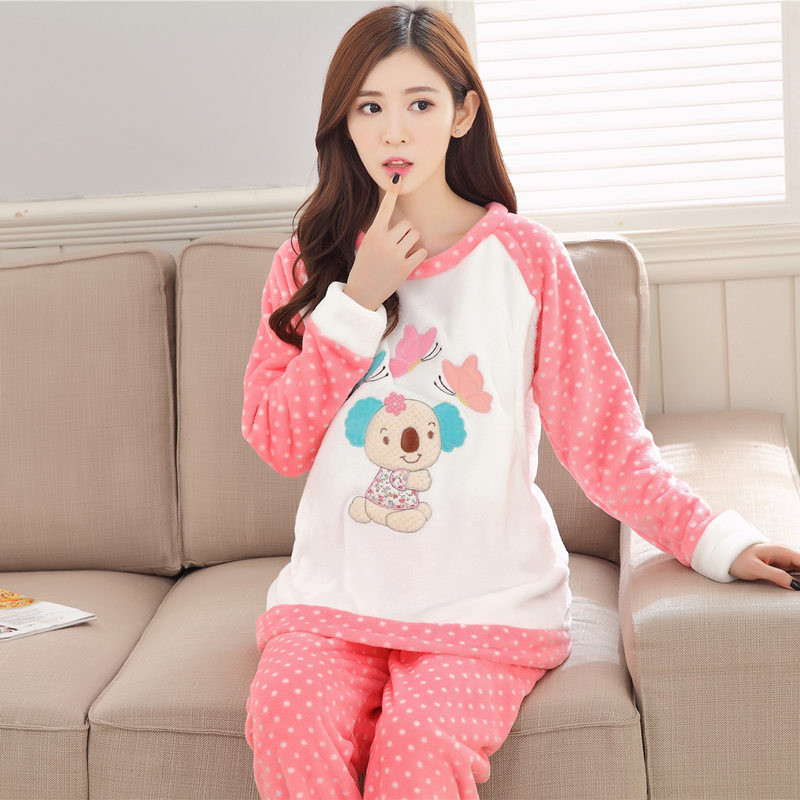 Autumn and winter thick coral fleece Pajama confinement prenatal postpartum breast feeding maternity Flannel Home clothes Suit maternity pajama hot robes autumn winter pregnant woman unisex home coral fleece pajama comfortable solid pockets women bathrobe