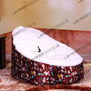 Assento do saco de feijão bebê com 2 pcs up cover feijão bebê sacos de feijão sofá do saco de feijão cadeira do saco de coelho branco LIVRE GRÁTIS
