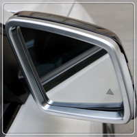 For Mercedes Benz ML 2012 2015/GL 2013 2015/GLS 2016 2018/GLE 2015 2018 ABS Car Rearview Mirror Rain Shield Cover Trim 2pcs