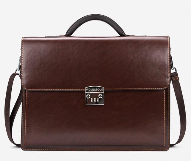 c1c76b62a5a0 Luxury Brand Men S Briefcases Black Bag Leather Business Men Laptop Bag  Lawyer Handbag Sac Document