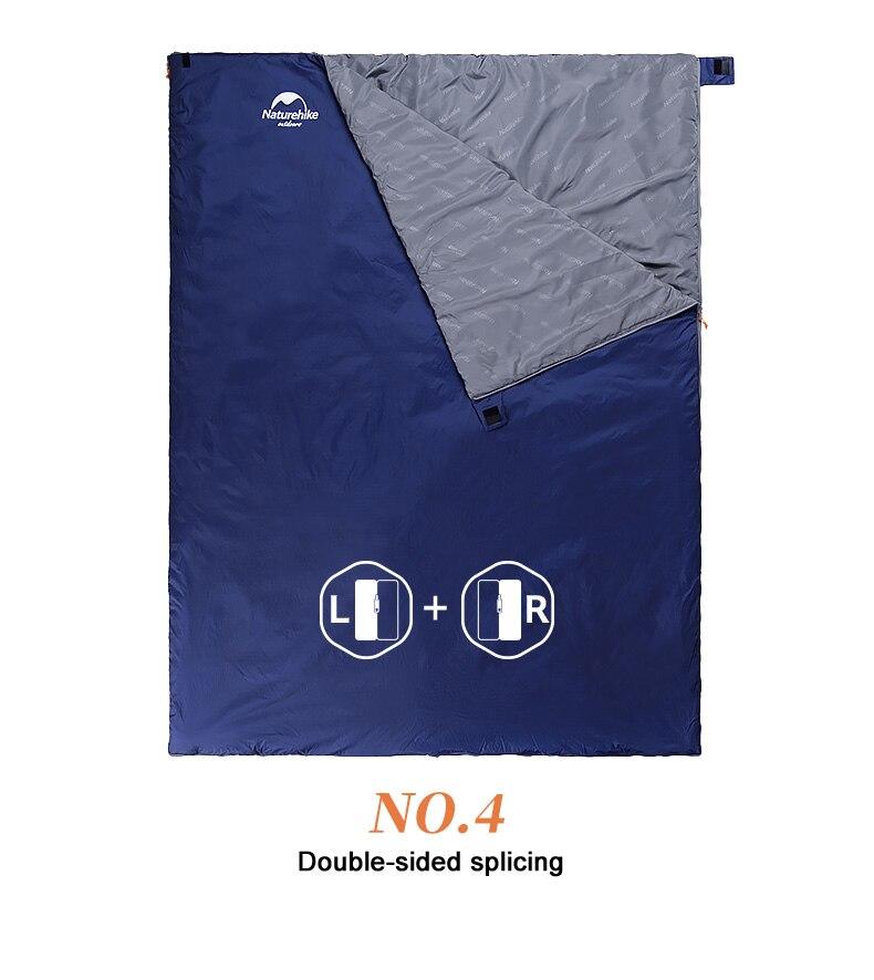 Caminhadas Camping Equipamento Portátil saco de dormir de Algodão
