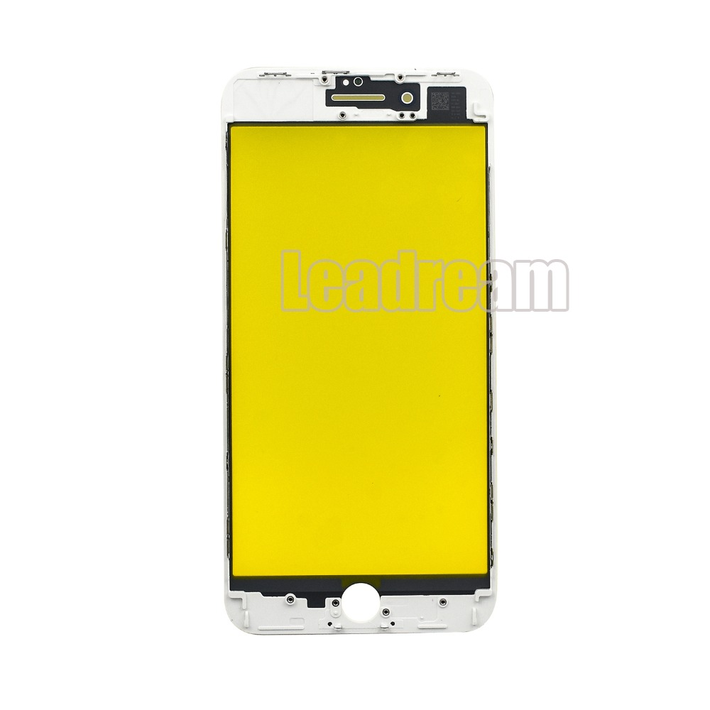 100pcs lot DHL Front Screen Glass Outer Lens with Middle Frame Bezel For iPhone 8 8