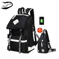 Fengdong Brand New Oxford Shoulder Bag Junior High School Korean Fashion Backpack For Teenage Mochila Infantil