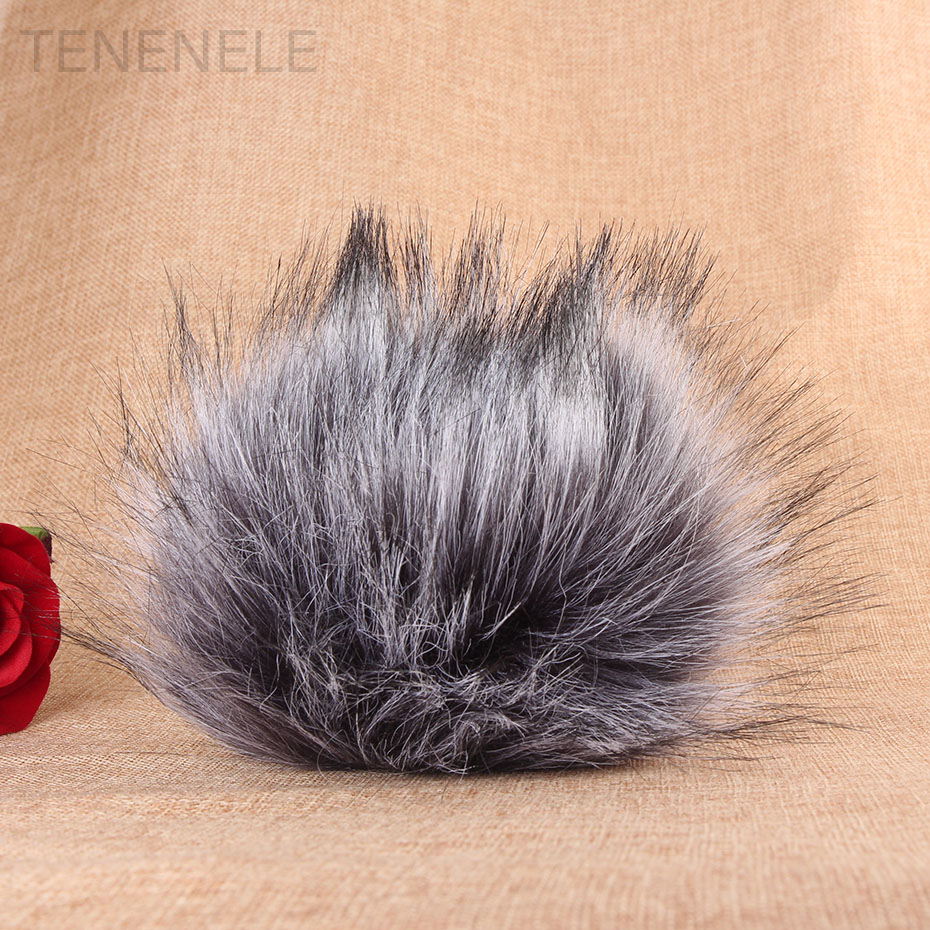 TENENELE For BOYA V02 Mic Muff Windscreen Wind Fur Cover Outdoor Plush Fur Furry Windshield Protect Case For Zoom H4N Microphone