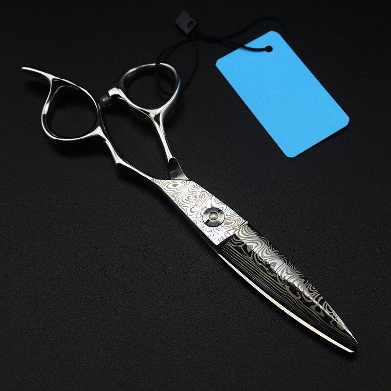 Profesyonel 6 inç Şam çelik kesim saç makası saç salon kesme berber makas makyaj saç kesimi makası kuaförlük makas