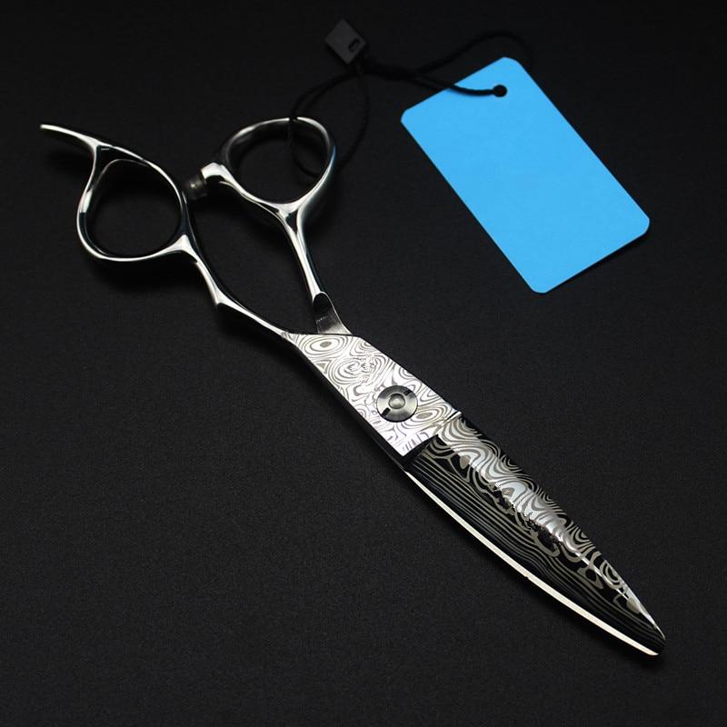 professional 6 inch Damascus steel cut hair scissors hair salon cutting barber makas makeup haircut shears hairdressing scissors